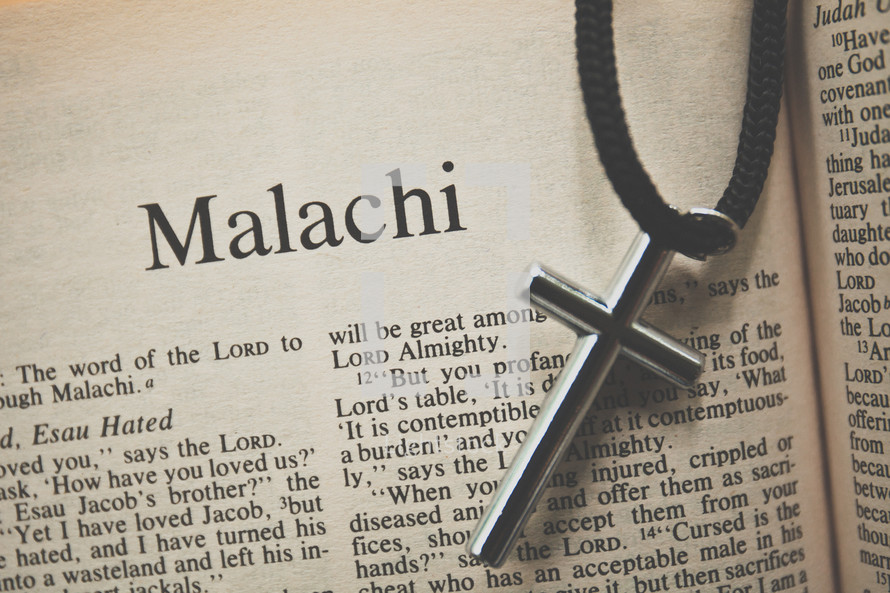 Malachi and cross necklace