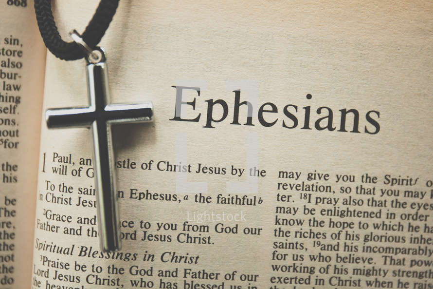 Ephesians and a cross necklace