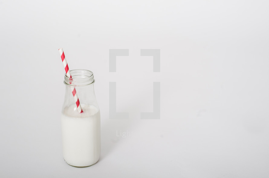 milk and straw