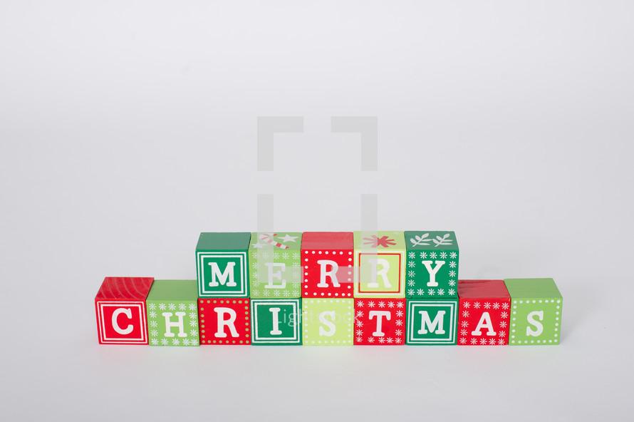 Merry Christmas in blocks