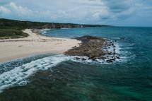 shoreline of the Bahamas