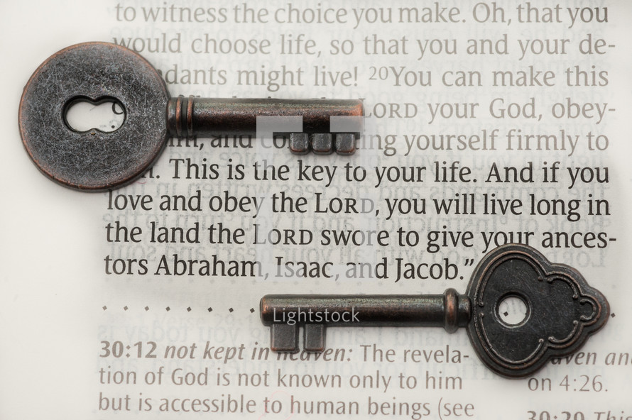 This is the key to your life. And if you love and obey the Lord, you will live long in the land the Lord swore to give your ancestors Abraham, Isaac, and Jacob