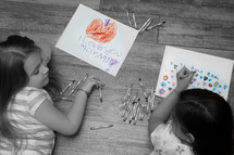 little girls coloring pictures