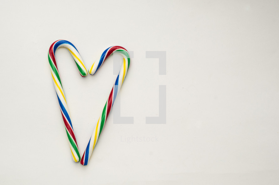 candy cane in the shape of a heart