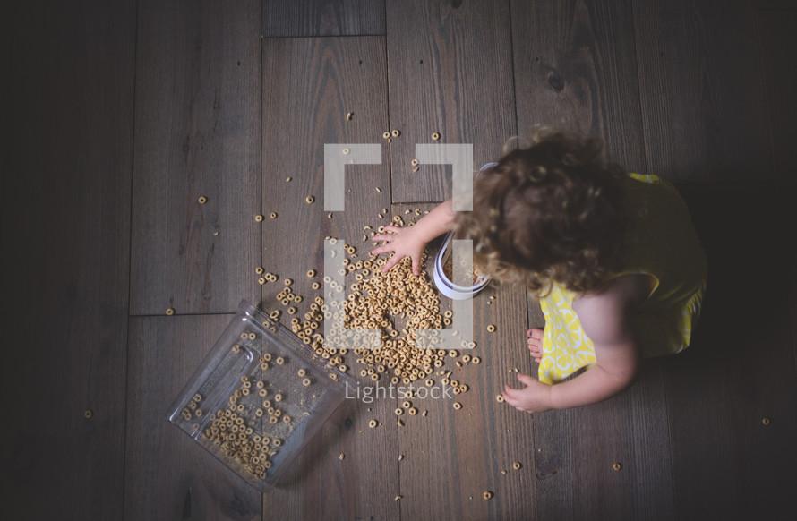spilled cereal