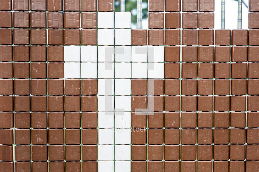 cross in tiles