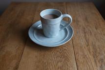 mug on a table