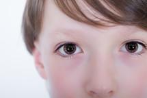 Child's eyes.