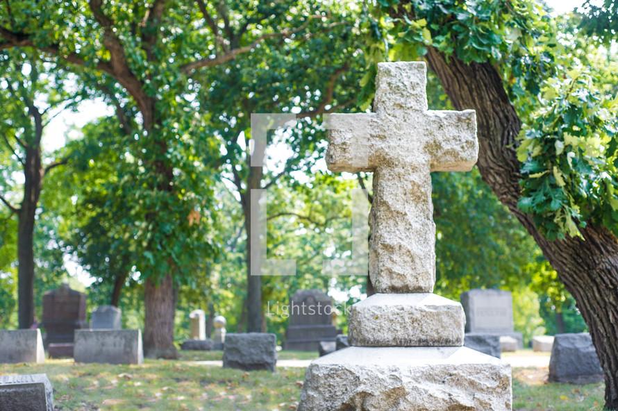 cross grave marker