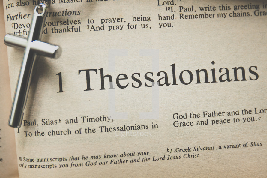 1 Thessalonians and a cross necklace