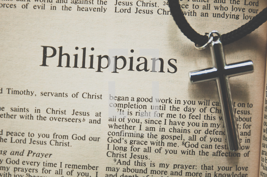 Philippians and a cross necklace
