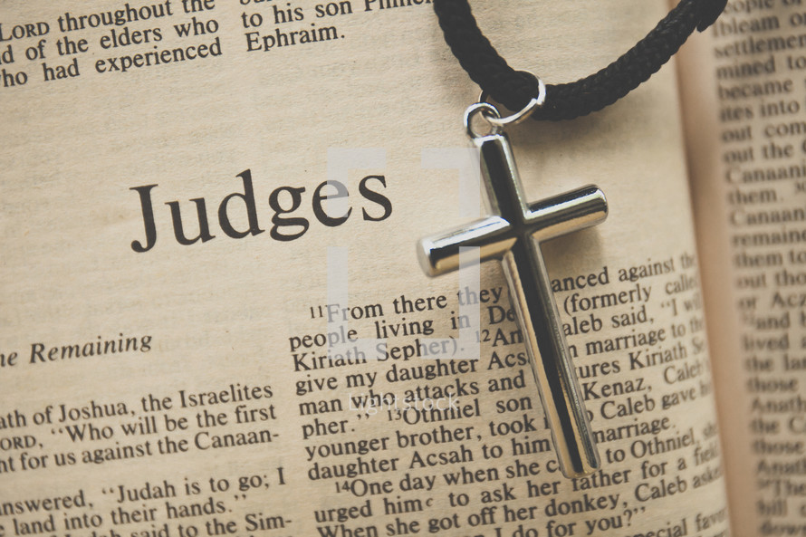 Judges and a cross necklace