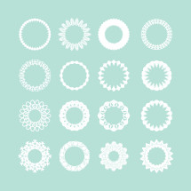 doilies and circle