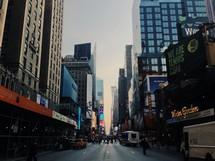 Manhattan streets.