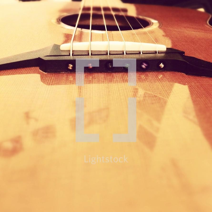 guitar bridge and saddle