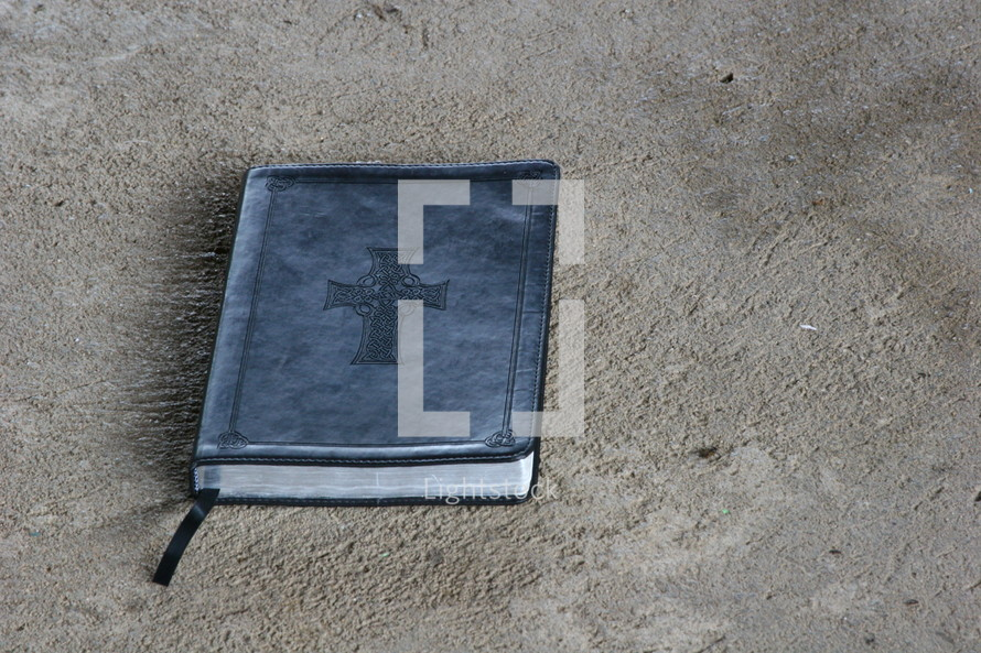 Notebook on the ground