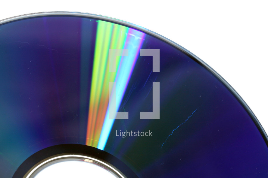 Data loss theme showing the surface of a scratched CD