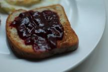jam on a slice of toast