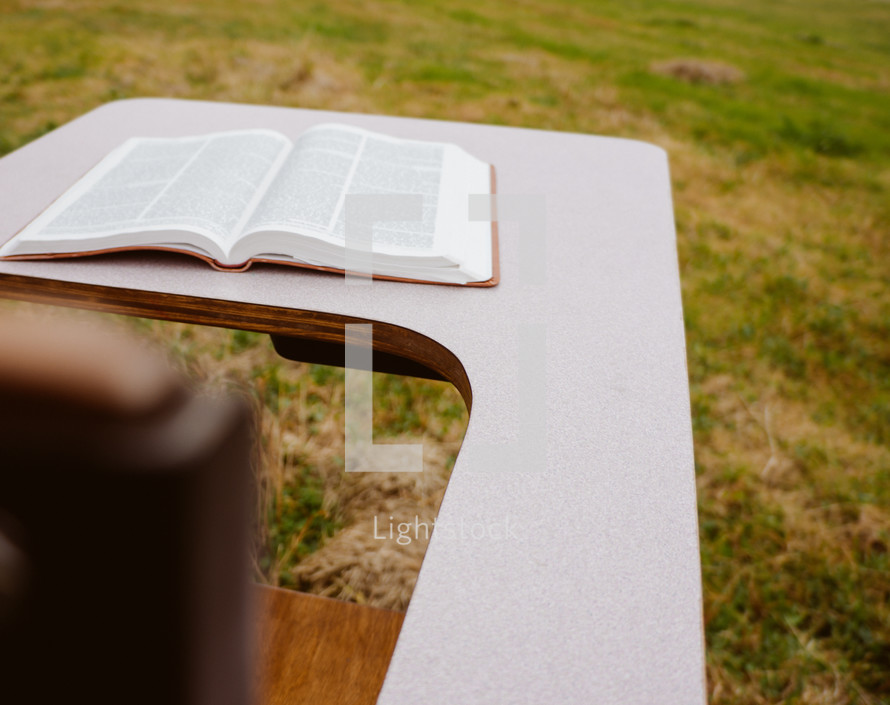 Bible on a student desk