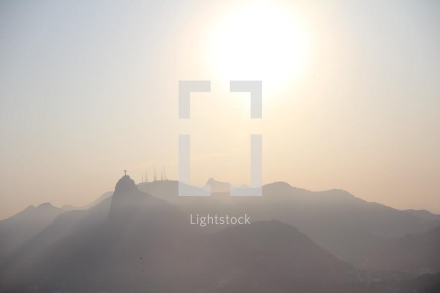 Light. Sun. Hills. Mountains. Glow. Christ. jesus.