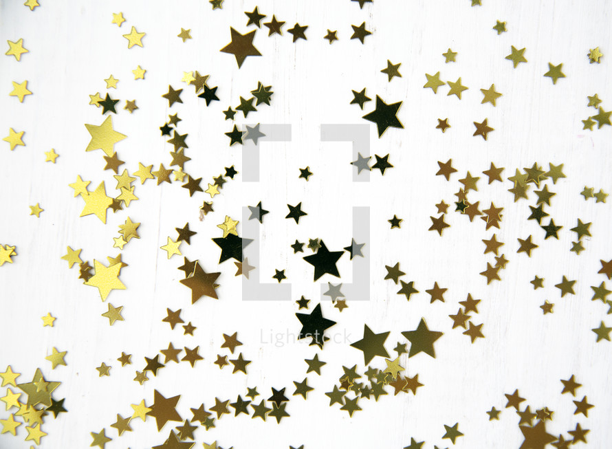 scattered star confetti
