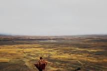 standing on Mount John