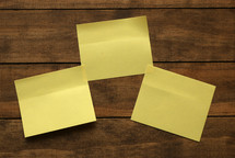 three post-it notes
