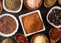 A Collage of Various Seasonings Spices and Herbs for Flavorful Cooking and Baking