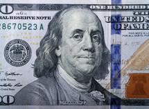 Benjamin Franklin, one hundred dollar bill, $100, background