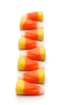 row of candy corns