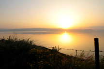 Sunset on the Sea of Galilee.