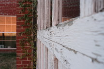 weathered window sill