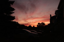 purple sky at sunset