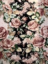 Vintage cloth floral pattern design for background.
