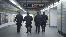 police officers in a subway