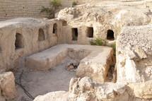 ancient ruins of a tomb