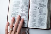 woman remind a Bible