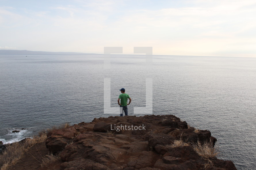 Looking Out From A Cliff