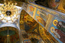 Mosaics on the walls and ceilings of the Spilled Blood Church