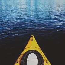 A canoe bow