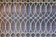 ornate metal window guard