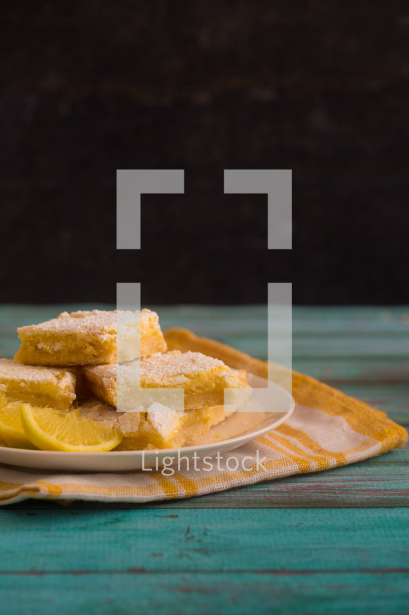 plate of lemon bars