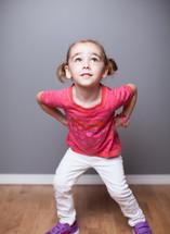Girl posing.
