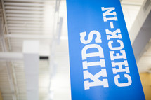 kids check in sign
