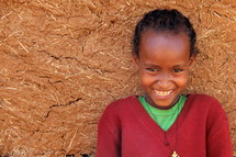 smiling girl child in Africa
