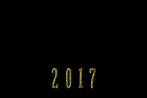 year 2017 on a black background