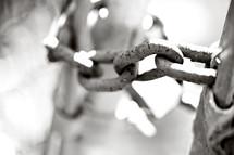 A heavy chain.