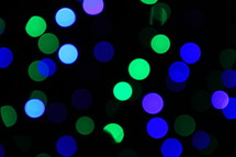 blue and green bokeh lights