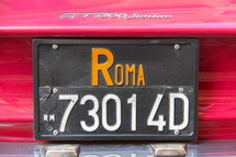 Rome license plate