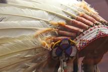 Native American headdress or war bonnet